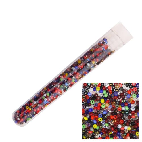 Tube Czech Glass Beads - Czech Glass Seed Bead ~ Size 14/0 ~ Vial Tube Multi Mix Colors & Finishes