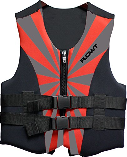 Flowt 40219-YTH All Purpose Character, Red - Lightweight Neoprene, Epe Foam; (Youth Neoprene Life Vest)