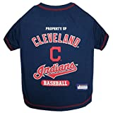 MLB CLEVELAND INDIANS Dog T-Shirt, Medium. - Licensed Shirt for Pets Team Colored with Team Logos