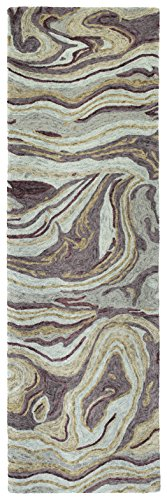 Kaleen Rugs MBL03-65-268, 2'6″ x 8′, Aubergine For Sale