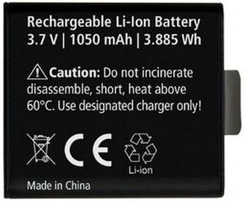 Rollei Akku AC425/430 - Ersatzakku für die Rollei Actioncams 425 und 430, Lithium-Ionen-Akku (3,7 V / 1050 mAh) - Schwarz
