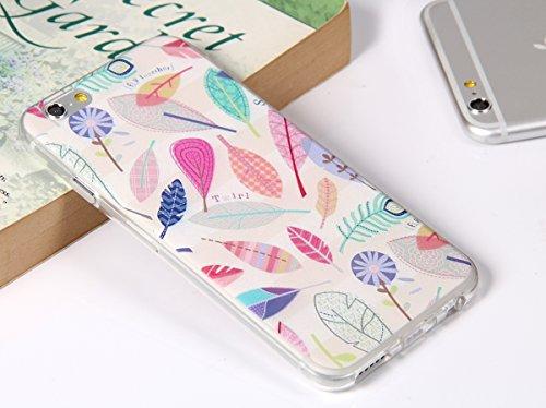 """JewelryWe """"Fly Together"""" bunte Blätter Blumen TPU Silikon Handy Case Schutzhülle Tasche Hülle Rückenschutzhülle Etui Schale Cover für Apple iPhone 6(4,7"""") mehrfarbig"""