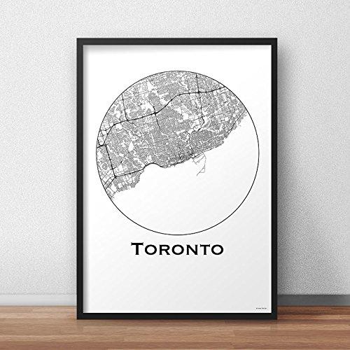 Print Toronto Canada Minimalist Map A4 A3 A2 City Map Art