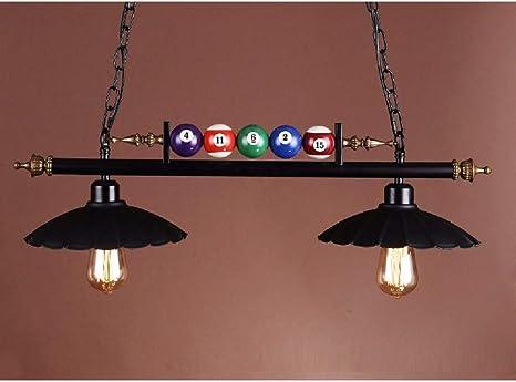 WENL lámpara de Billar, Hierro Forjado, 2/3 Cabezas, luz de Techo ...