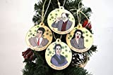 Set of 4 Wooden Seinfeld Inspired Festivus Ornaments, Made in the USA