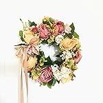 LI-HUA-CAT-Handmade-Floral-Artificial-Flowers-Garland-Rose-Wreath-for-Home-Party-Decor-Valentines-Wreath-Orange