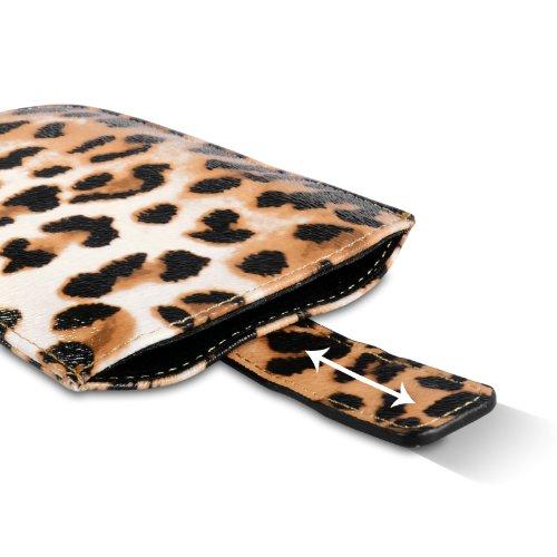 Yousave Accessories Coque iPhone 5C Etui Motif Léopard PU Cuir Pochette Housse Avec Tirez Onglet