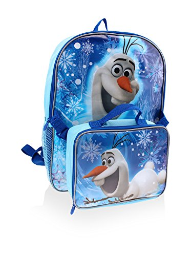 Disney Kid's Olaf Backpack with Lunch Kit, Blue