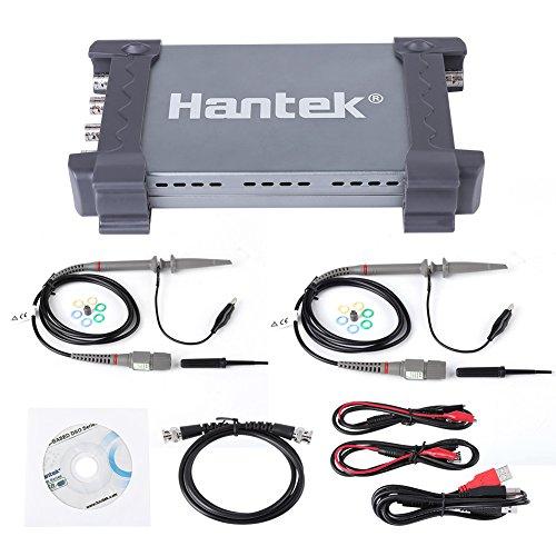 Hantek Oscilloscope,6074BD 4 ChannelsLogic Analyzer, 70MHz Bandwidth 1GSa/s Real-time Sampling Digital Storage Oscilloscop,Based PC USB Digital Portable Oscilloscope