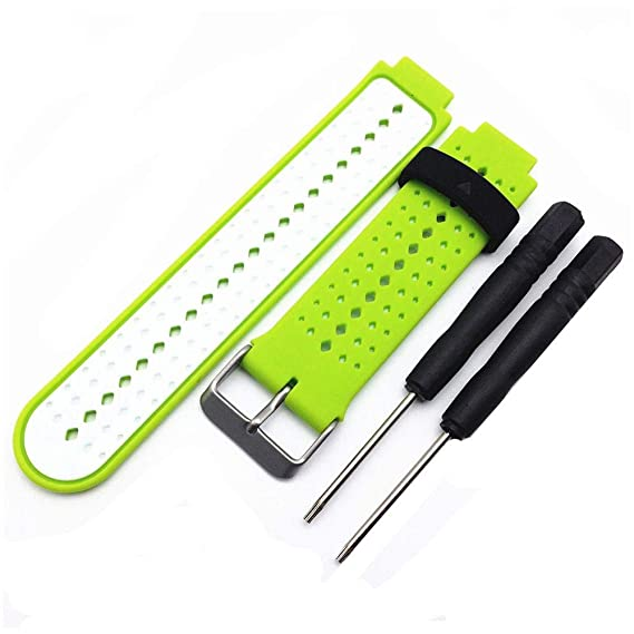 Jewh Silicone Watch Strap Band for Garmin Forerunner 220 230 235 620 630 Smart Watch -