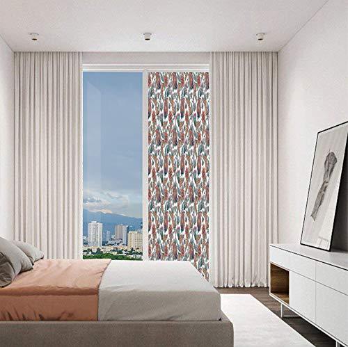 YOLIYANA Modern Glass Window Film No Glue Privacy Window Cling 3D Paisley Glass Stickers for Bathroom 24