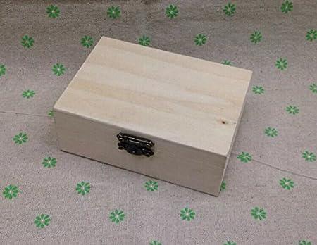 XBR Una Caja Rectangular de Madera de contrachapado de Madera, Caja de Regalo Caja DIY Caja Rectangular de Madera Pintada a Mano: Amazon.es: Hogar