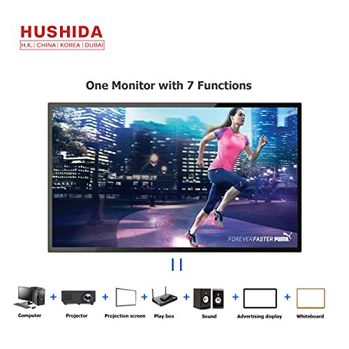 (HUSHIDA 55inch Interactive Digital Signage 1080p 10-Point Multi Infrared Touch Screen Commercial Full HD Display Monitor)