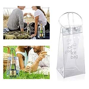 zinkoda Durable PVC cubo de hielo enfriador de vino y bolsa de hielo