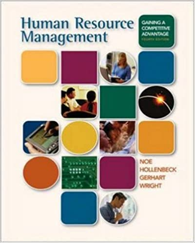 Human resource management: gaining a competitive advantage with.