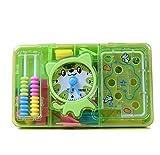 Wanrane Baby Development Toys Labyrinth Tool Box Cat Counter Children's Educational School Supplies(Green)