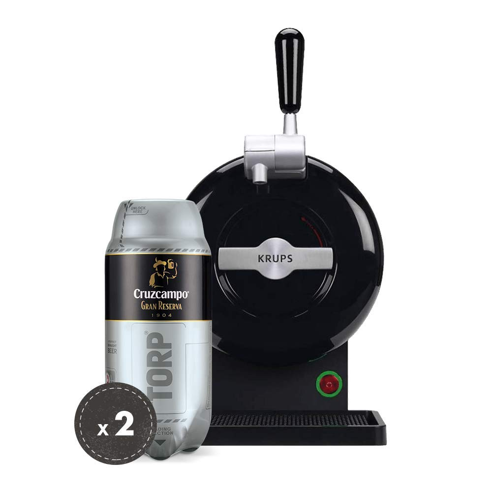 Pack Heineken THE SUB | Tirador de cerveza de barril THE SUB Black Edition + 2 TORP Cruzcampo Gran Reserva barril de cerveza de 2 litros: Amazon.es: Hogar