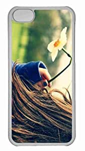 Customized iphone 5C PC Transparent Case - Daffodil Personalized Cover