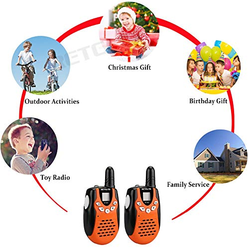 HUAXING 2pcs Children Walkie Talkie for Kids 0.5W PMR PMR446 FRS PTT VOX Flashlight Rechargable Battery 2 Way Radio by HUAXING (Image #5)