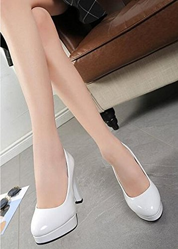 Pumps Shoes Woman Heels Women High Shoes Wedding Size Basic Shoes White White Plus Pointed Toe Boat q6T8xw