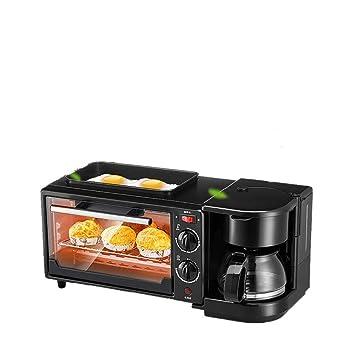 FUHUANGYB Tostadora Eléctrica Café Huevo Frito Tres En Uno Máquina De Desayuno Uso Doméstico Automático Baker Cocina Freír: Amazon.es: Hogar
