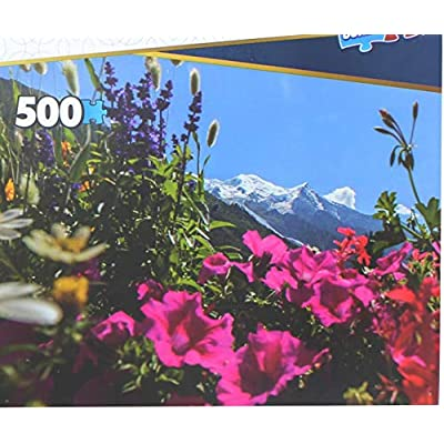 The Canadian Group Set of 2 Keepsakes 500 Piece Jigsaw Puzzles | Wildflowers: Toys & Games