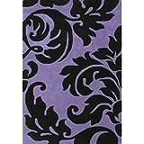 Alliyah Handmade Purple New Zealand Blend Wool Rug (5 x8 )