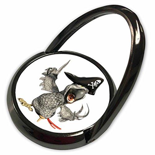 (3dRose Boehm Graphics Cartoon - African Grey Cartoon Parrot Pirate Captain - Phone Ring (phr_282377_1))