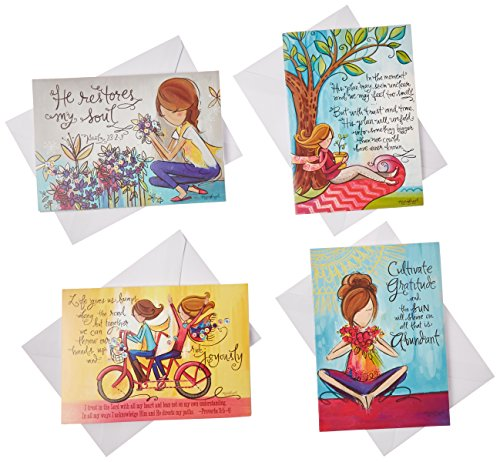 Divinity Boutique (22380N) Greeting Card Assortment: Girly Girls, Thinking of You 5 x 7 Inch, Set of 12 - 3 sets of each 4 designs (Adorable Children's Boutique)