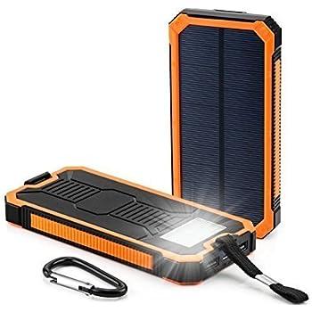 Amazon Waterproof 300000mah Portable Solar Charger Dual Usb