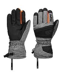 SNOTEK Performance Men's Winter Ski Gloves for Skiing, Snowboarding, Winter Gloves Insulated (ST211-GREY, Large)