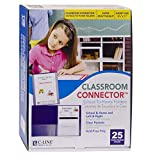 C-Line Classroom Connector School-to-Home Folders, Purple, 25 per Box (32009)