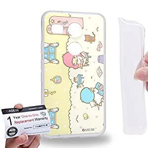 Case88 [LG Nexus 5X (2015)] Gel TPU Carcasa/Funda & Tarjeta de garantía - Little Twin Star Kiki And Lala Dreamy Diary 1317