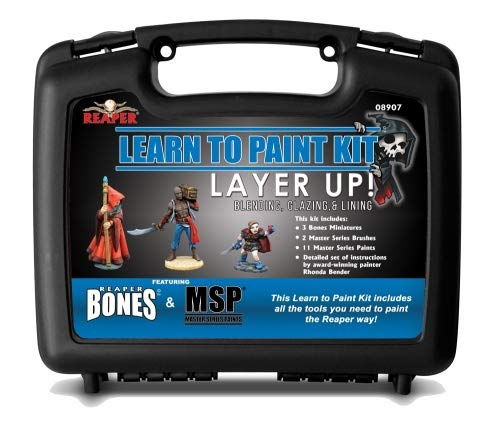 Reaper Layer Up Bones Miniatures Learn to Paint Kit Miniatures (Basic pack) by Reaper (Image #1)