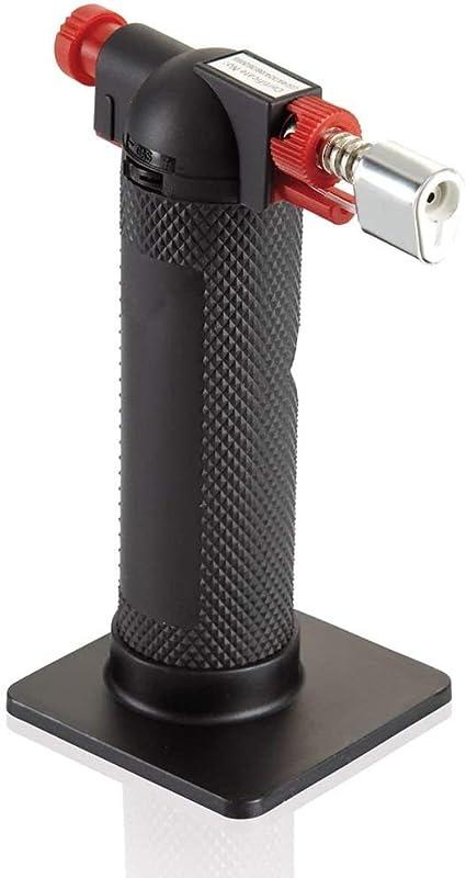 Leifheit Küchen Flambierer, einfach und sicher zu bedienender Gasbrenner,  vielseitiger Bunsenbrenner gefüllt mit herkömmlichem Butangas, ProLine-Serie