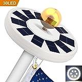 Solar Flag Pole Light- LBell 30 LED Flag Pole Lights Solar Powered Night Light- Flagpole Downlight Lighting for 15 to 25 Ft Top Auto On/Off, Energy Saving LEDs (White)