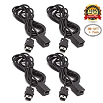 SNES Classic Controller Extension Cable 3M / 10ft, SNES Extension Power Cord for Super Nintendo SNES Classic Edition Controller (2017) and Mini NES Classic Edition (2016) (2Pack)