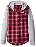 NFL New England Patriots Womens NFL Women's Lightweight Flannel Hooded Jacket, Small