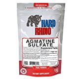 Hard Rhino Agmatine Sulfate Powder, 125 Grams (4.4 Oz), Unflavored, Lab-Tested, Scoop Included