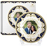 Royal Heritage H.R.H Harry and Meghan Markle Wedding Commemorative Plate, Fine China, Multi-Colour, 11 x 11 x 2 cm