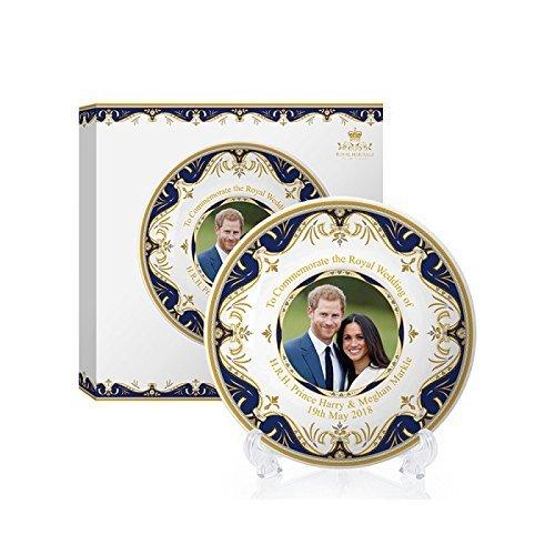 Royal Heritage H.r.h Harry et Megan Markle Plaque commémorative de Mariage, en Porcelaine Fine, Multicolore, 11x 11x 2cm Lesser & Pavey Ltd LP18075