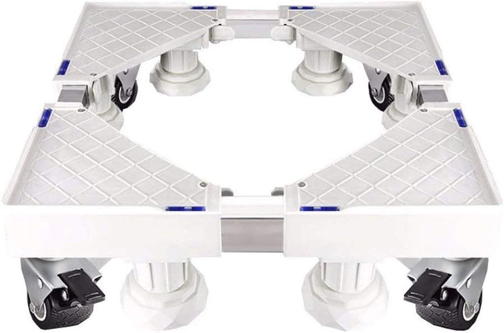 JJSFJH 洗濯機ドライヤーと冷蔵庫のための8の強力な足で多機能調節可能なベース家具ドリー
