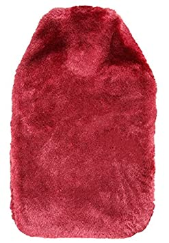 Premium BS Natural Hot Water Bottle with Luxury Soft Fur Cosy Cover - 2 Litre (Royal Blue) Revitale Home