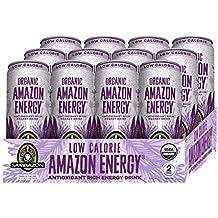 Sambazon Amazon Energy Drink, Low-Calorie Acai Berry Pomegranate, 12 Ounce (Pack of 12)
