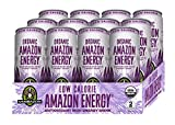 amazon acai - Sambazon Amazon Energy Drink, Low-Calorie Acai Berry Pomegranate, 12 Ounce (Pack of 12)
