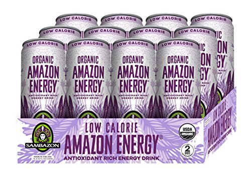 Sambazon Amazon Energy Drink, Low-Calorie Acai Berry Pomegranate, 12 Ounce (Pack of - Drink Antioxidant Energy