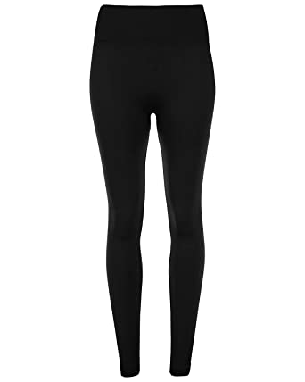 2414d61b8c819a Women Ladies Thermal Coloured Fleece Lined high Waist Long Stretch Leggings:  Amazon.co.uk: Clothing