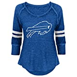 NFL Junior Girls Relaxed 3/4 Thermal Top, Buffalo Bills, Royal, XS(0-1)