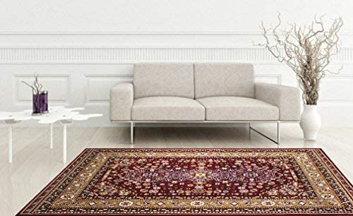 KILIM Boho Bohemian Burgundy Kerman Vintage Style K605 Area Rug Clearance Soft and Durable Pile. Size Option , 7 .4 X 10 .6