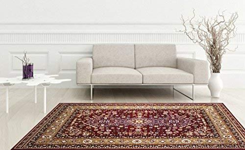 KILIM Boho Bohemian Burgundy Kerman Vintage Style K605 Area Rug Clearance Soft and Durable Pile. Size Option , 7 .4 X 10 .6
